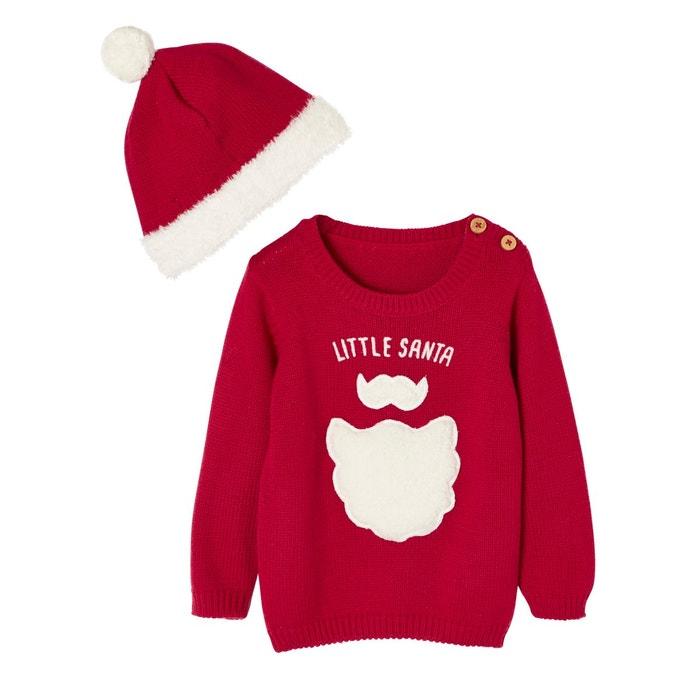 mode de luxe prix bas mode Coffret de Noël bébé pyjama et bonnet en tricot Little Santa