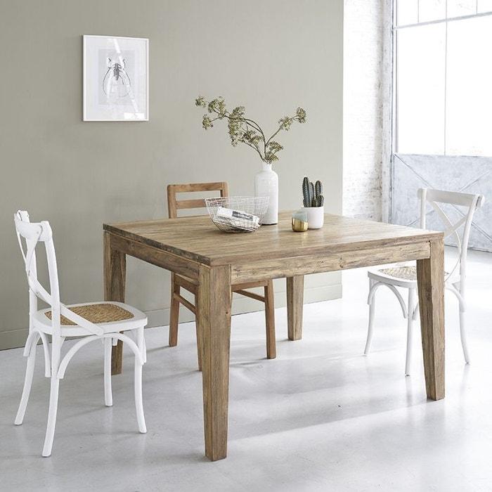 Table Salle A Manger Bois Avec Rallonge: Table En Bois De Teck Recyclé Avec Rallonges 8 à 10