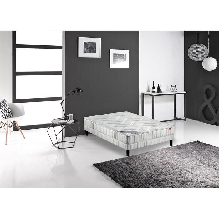 ensemble matelas ressorts ensach s joya et sommi blanc. Black Bedroom Furniture Sets. Home Design Ideas
