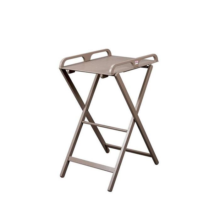table langer pliante en bois jade laqu e taupe combelle couleur unique combelle la redoute. Black Bedroom Furniture Sets. Home Design Ideas