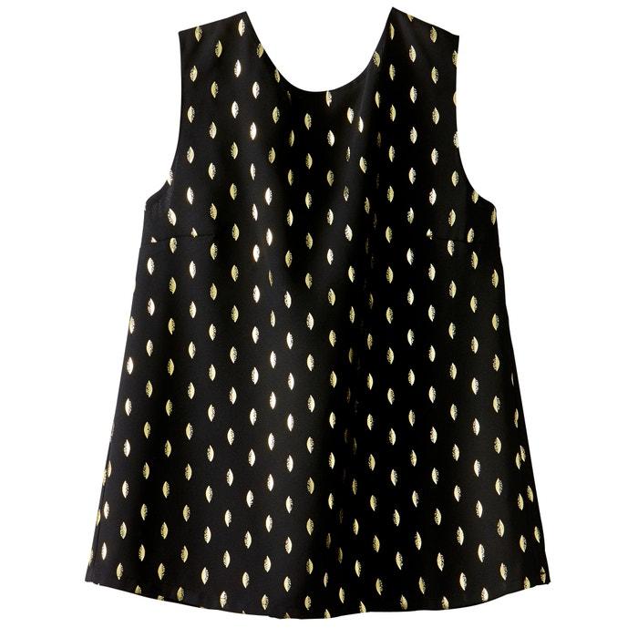 Blusa con cuello redondo y estampado gráfico, sin mangas  SEE U SOON image 0