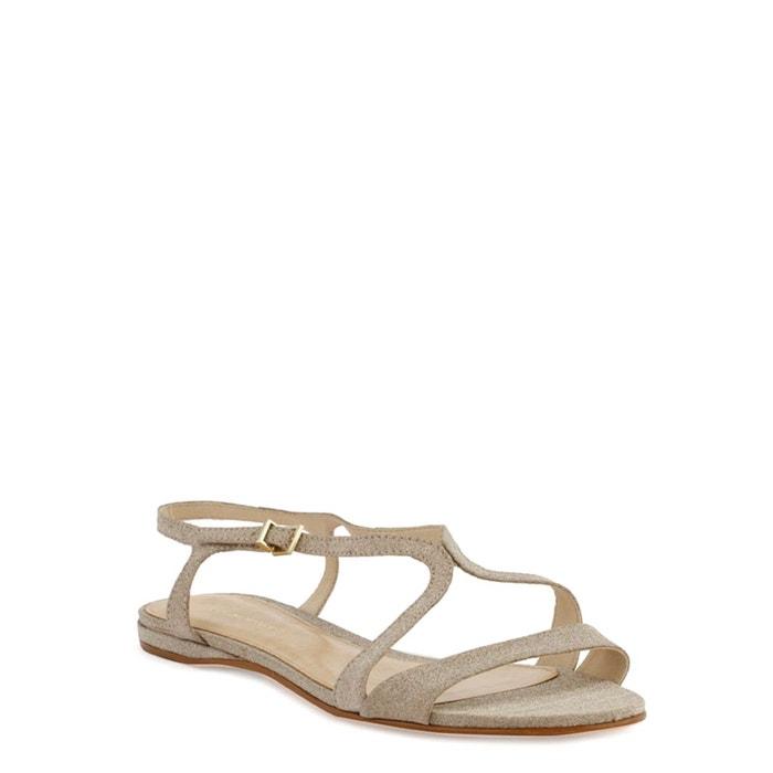 Sandales plates alexi platine Cosmoparis