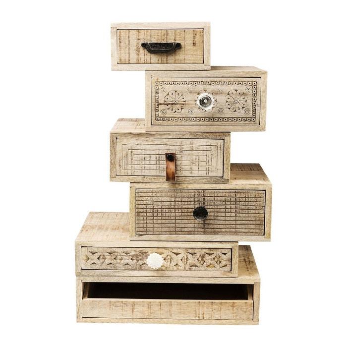 chiffonnier puro set de 6 kare design bois clair kare. Black Bedroom Furniture Sets. Home Design Ideas