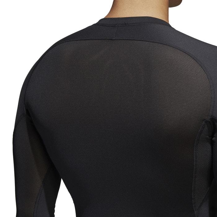 cuello redondo Camiseta manga con PERFORMANCE larga ADIDAS lisa qpIwIT