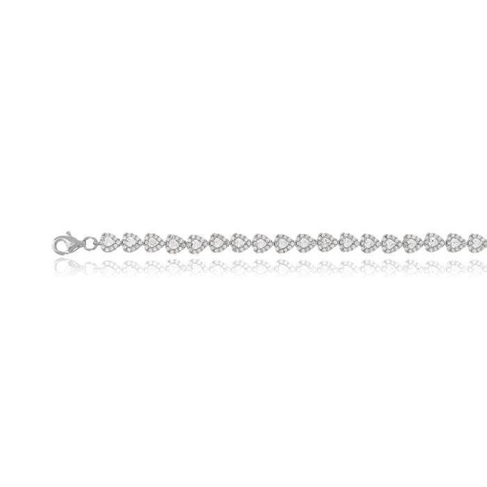 Footaction En Ligne Vente Style De Mode En Ligne Bracelet argent 925/1000 oxyde de zirconium blanc Cleor   La Redoute Jeu Footaction Vente Pas Cher Faible Frais D'expédition LztzbGCwpa