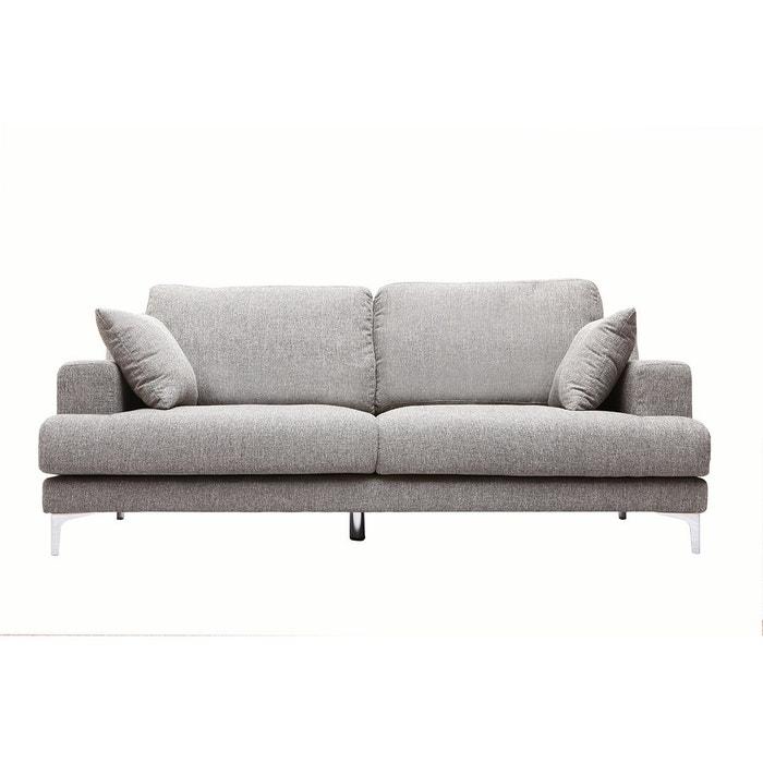 canap design 3 places tissu bomen gris perle miliboo la redoute. Black Bedroom Furniture Sets. Home Design Ideas