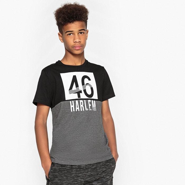 T-shirt bicolore scollo rotondo da 10 a 16 anni  La Redoute Collections image 0