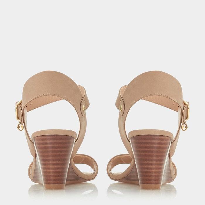 Sandales à talon compensé mi-haut rainuré - kendo Dune London