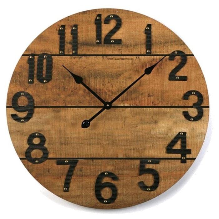 horloge murale bois scandi 60 cm multicolore natacha b la redoute. Black Bedroom Furniture Sets. Home Design Ideas