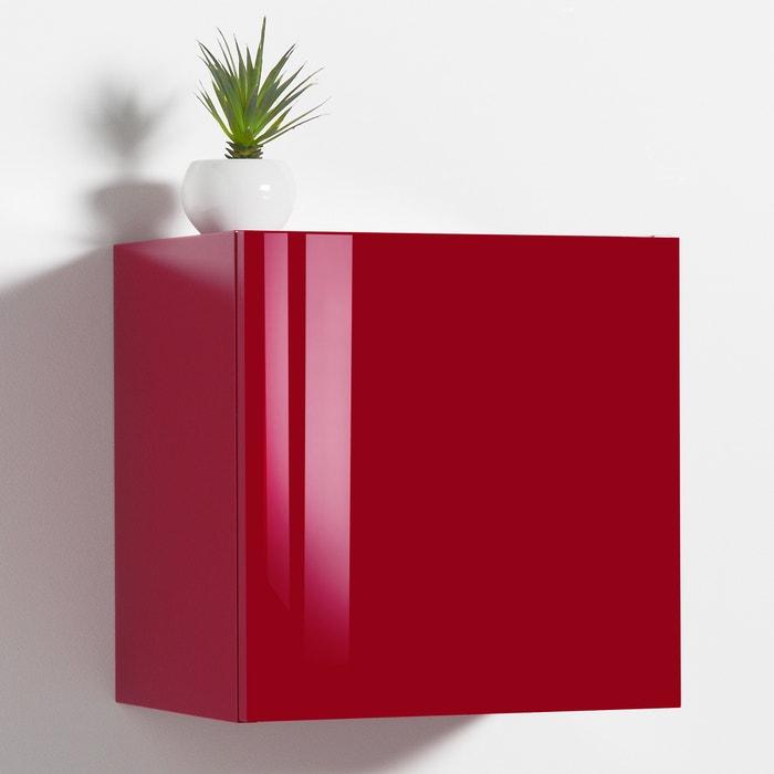 Cube de rangement mural laqu design newark la redoute - Cube de rangement mural ...