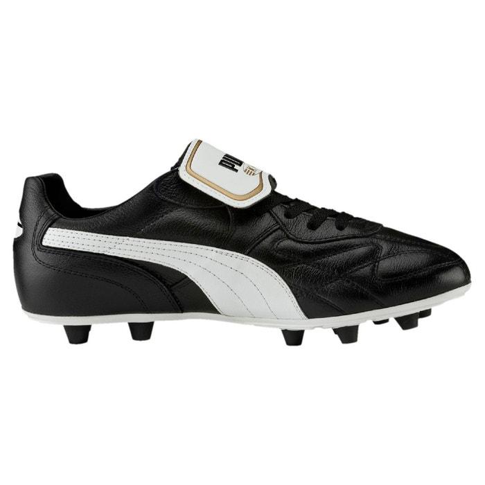 Chaussure de foot king top m.i.i fg pour homme black-white-team gold Puma