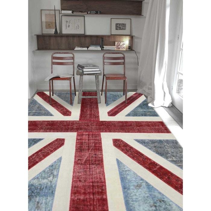 Tapis union jack patchwork bleu tapis moderne par unamourdetapis ...