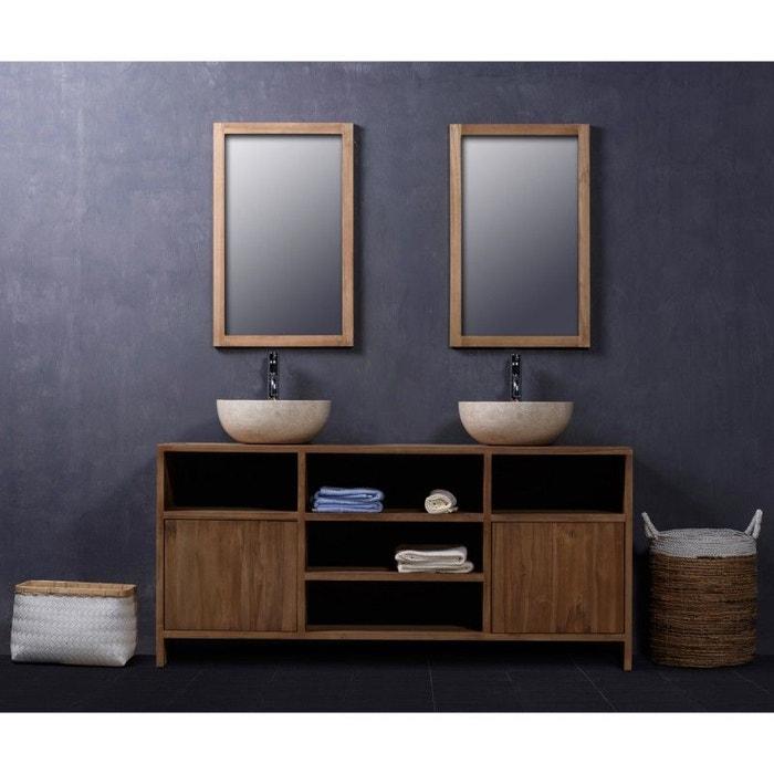 Meuble de salle de bain en bois de teck 160