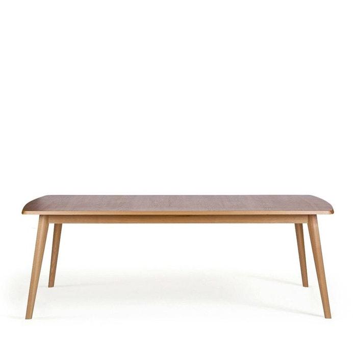table manger en fr ne 220x90cm cambridge marron drawer. Black Bedroom Furniture Sets. Home Design Ideas