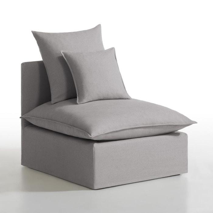 chauffeuse d houssable lin coton n lia la redoute interieurs la redoute. Black Bedroom Furniture Sets. Home Design Ideas