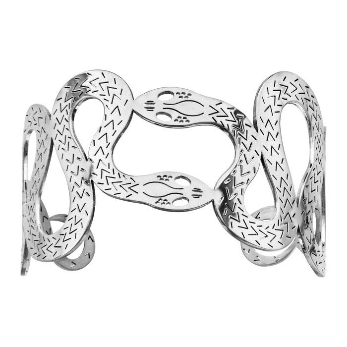 Fourniture Gratuite D'expédition Qualité Originale Bracelet manchette serpent acier inoxydable couleur unique So Chic Bijoux | La Redoute xlBVFrfx
