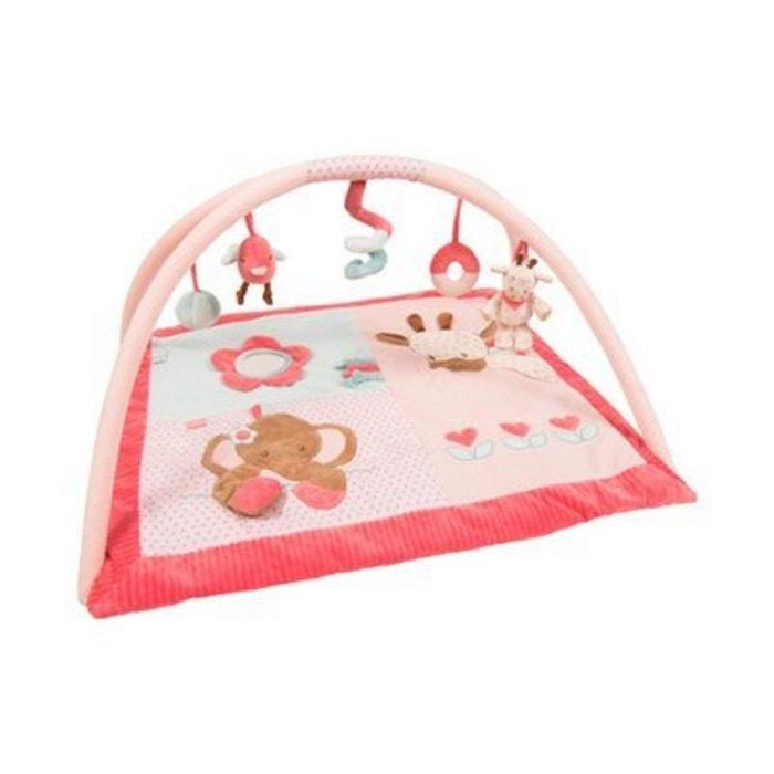 nattou le tapis d veil avec arceaux charlotte rose. Black Bedroom Furniture Sets. Home Design Ideas