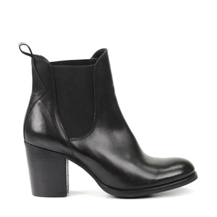 Chelsea boots en cuir avec talon cubain Sacha   La Redoute 40f79719d616