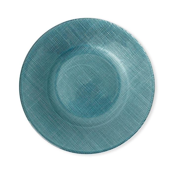 assiette dessert en verre bleu 21cm lot de 6 astrid bleu canard bleu fonc bruno evrard. Black Bedroom Furniture Sets. Home Design Ideas