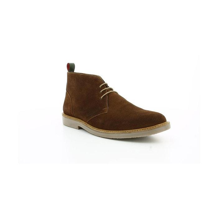 Boots et bottines croûte velours homme tyl camel Kickers