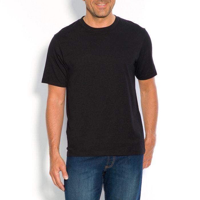 Image T-shirt z okrągłym dekoltem i krótkim rękawem, czysta bawełna CASTALUNA FOR MEN