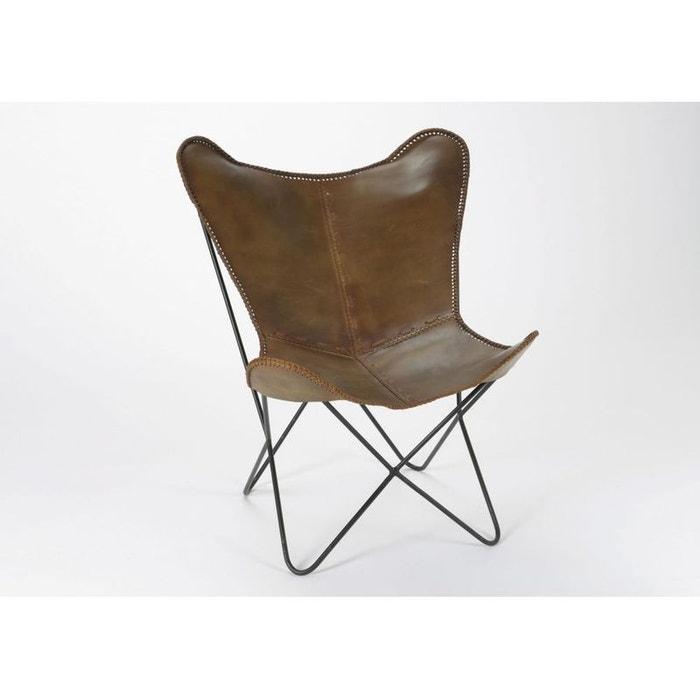 fauteuil relax cuir choco 75x86x87cm cuir choco pier. Black Bedroom Furniture Sets. Home Design Ideas