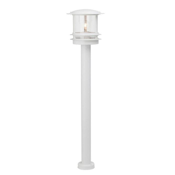 Hollywood borne d 39 ext rieur blanc h98cm luminaire d for Borne luminaire exterieur