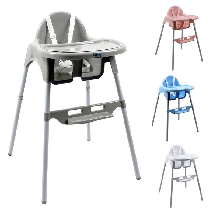 chaise haute b b r glable hauteur et tablette d lice gris gris monsieur bebe la redoute. Black Bedroom Furniture Sets. Home Design Ideas