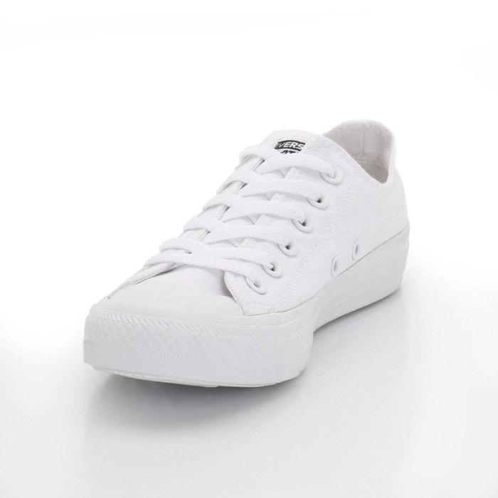 Baskets ctas mono canvas ox blanc Converse