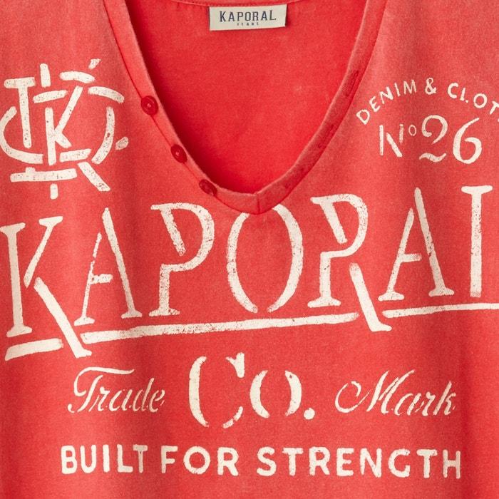 Imagen de Camiseta TAZOR con cuello de pico y motivo estampado KAPORAL 5