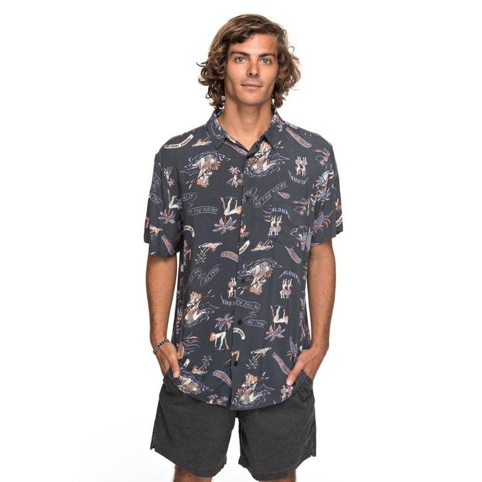 Chemise à manches courtes aloha strip club noir - tarmac aloha trip club  Quiksilver   La Redoute f1e90cd302a0
