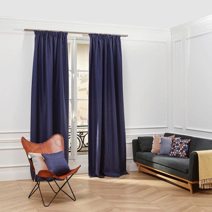 rideau ruban fronceur coconut bleu nuit madura la redoute. Black Bedroom Furniture Sets. Home Design Ideas