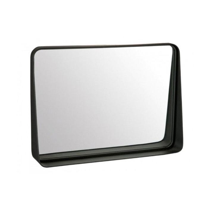Miroir Rectangulaire Noir En Zinc Et Verre Noir Wadiga