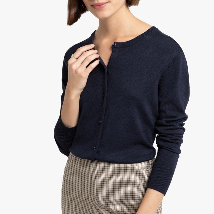 Gebreid vest, basic model  LA REDOUTE COLLECTIONS image 0