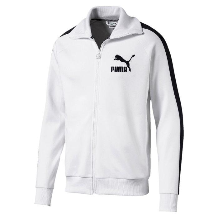 91e89866597 Veste de survêtement zippé blanc   bleu marine Puma