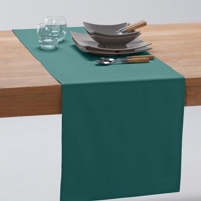 Chemin de table pur coton trait anti t ches sc bleu - Chemin de table anti tache ...