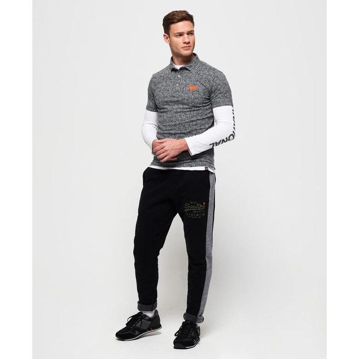 Pantalon de survêtement camouflage à logo vintage noir gris blizzard chiné  Superdry  85e30b5dfa7