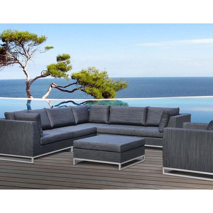 Salon de jardin en aluminium et tissu d\'oléfine Ibiza