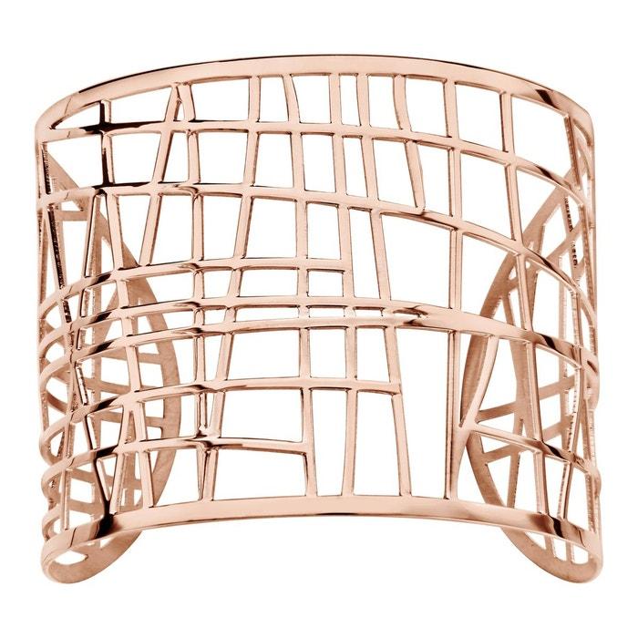 Bracelet manchette rose acier inoxydable couleur unique So Chic Bijoux | La Redoute Magasin De Jeu De Vente Pas Cher VWeW2eZR