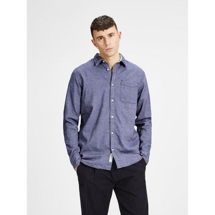 Chemise à manches longues décontractée navy blazer Jack & Jones