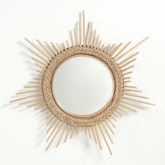 Miroir soleil en rotin BRIGITTE BARDOT X LA REDOUTE