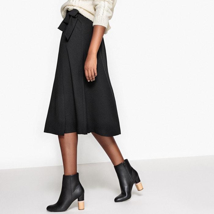 Wrapover Midi Skirt  La Redoute Collections image 0