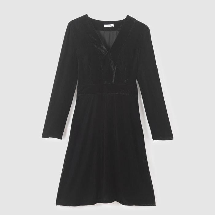 Vestido La Collections de Redoute pico cuello de terciopelo con Eq1ATqw