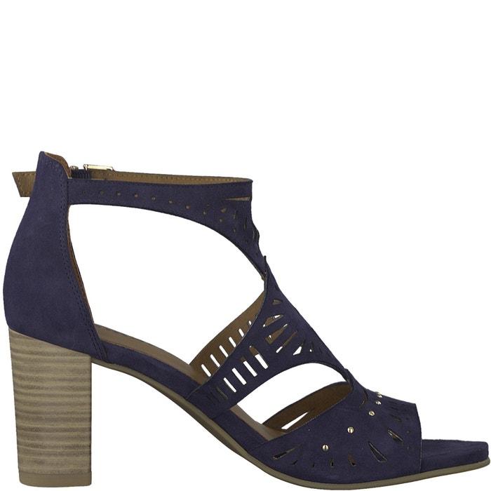 Ela Leather High Heeled Ankle Strap Sandals  TAMARIS image 0