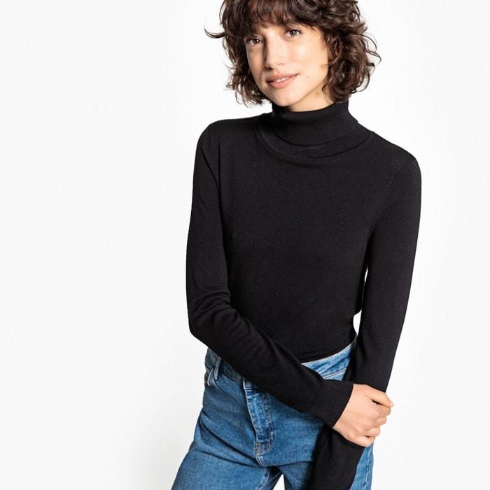Пуловер базовый, с отворачивающимся воротником, из вискозы  La Redoute Collections image 0