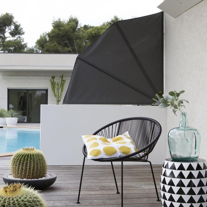 brise vue ventail acier et toile gris la redoute interieurs la redoute. Black Bedroom Furniture Sets. Home Design Ideas