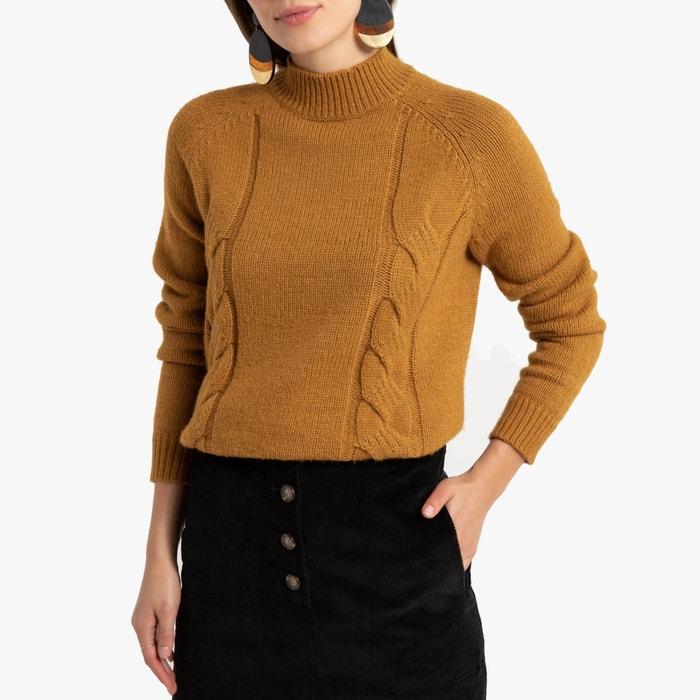 Trui in dik tricot met opstaande kraag en kabelmotief  LA REDOUTE COLLECTIONS image 0