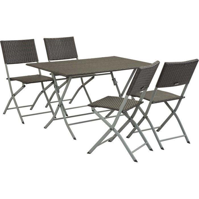 Salon de jardin en r sine tress e sydney buffalo - La redoute table de jardin en resine tressee ...