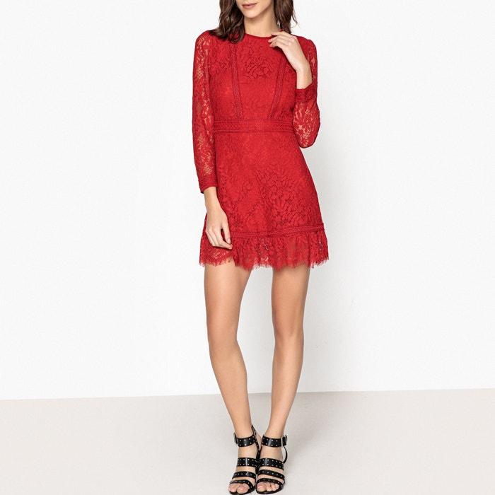 ba1e038dea9 Платье с длинными рукавами из кружева красный The Kooples