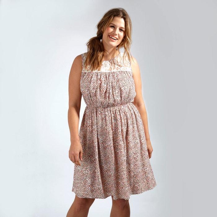Printed Dress with Lace Insert  KOKO BY KOKO image 0